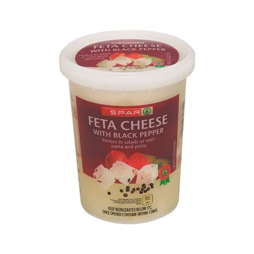 Spar Feta Cheese Black Pepper 400g 1