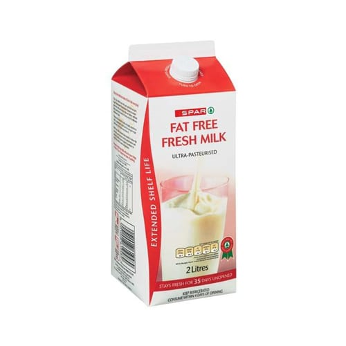 Spar Milk Extended Shelf Life Fat Free 2lt 1