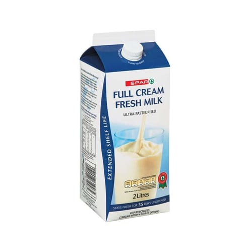 Spar Milk Extended Shelf Life Full Cream 2lt 1