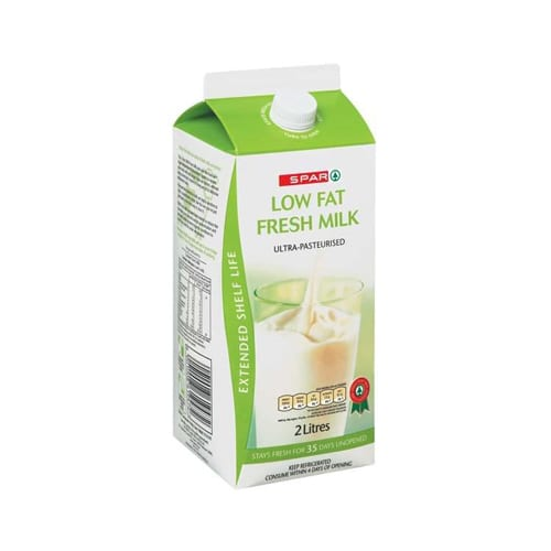 Spar Milk Extended Shelf Life Low Fat 2lt 1