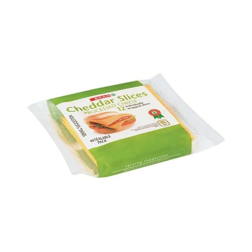 Spar Processed Cheese Cheddar Slices 200g 1
