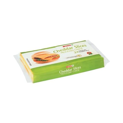 Spar Processed Cheese Cheddar Slices 400g 1