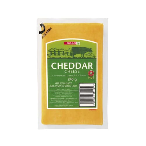 Spar Vacuum Packed Cheddar Cheese 240g 1
