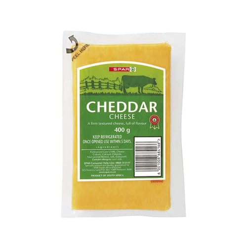 Spar Vacuum Packed Cheddar Cheese 400g 1