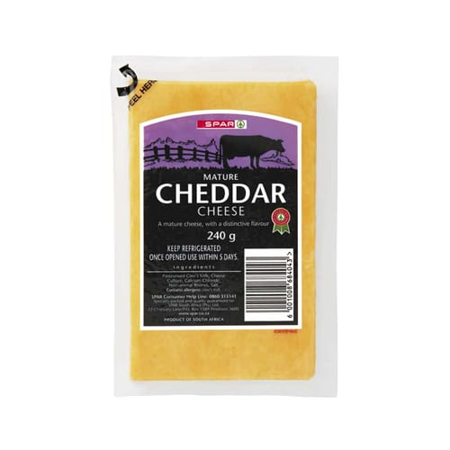 Spar Vacuum Packed Mature Cheddar Cheese 240g 1