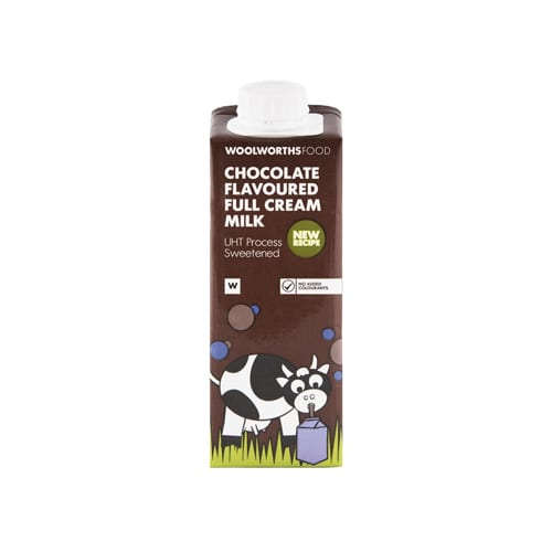 Woolworths 1 Kids Chocolate Flavoured Full Cream Milk 250ml 6009173506030