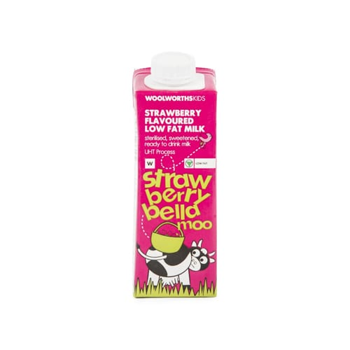 Woolworths 1 Kids Strawberry Flavoured Low Fat Milk 250ml 6009173506054