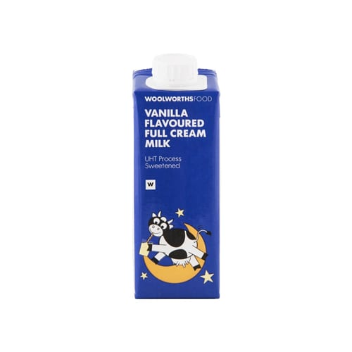 Woolworths 1 Kids Vanilla Flavoured Full Cream Milk 250ml 6009207388809