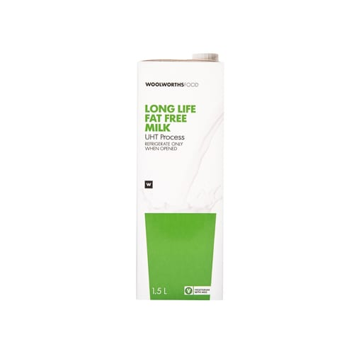Woolworths 1 Long Life Fat Free Milk 1 5L 6009101459698