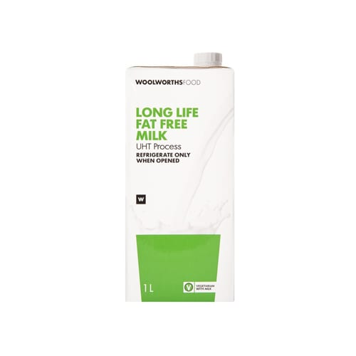 Woolworths 1 Long Life Fat Free Milk 1L 6009171079963