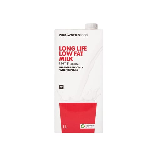 Woolworths 1 Long Life Low Fat Milk 1L 6009171079970