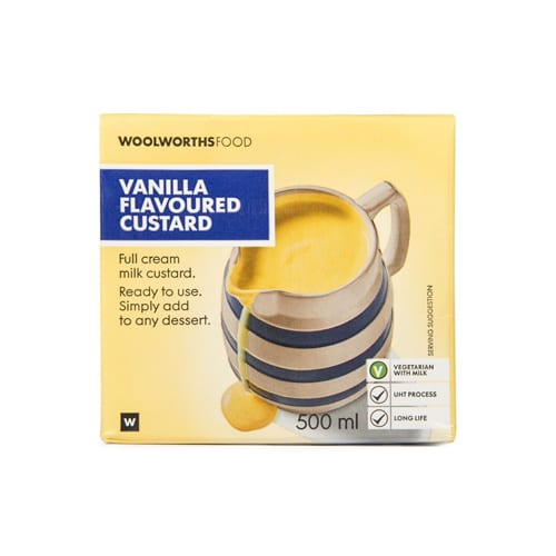 Woolworths 1 Vanilla Flavoured Custard 500ml 6009184116501