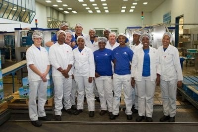 A group of staff at Woodlands Dairy in Humansdorp, Eastern Cape